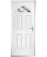 The Derby Composite Door in White with Simplicity