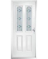 The Aberdeen Composite Door in White with Simplicity
