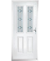 The Cardiff Composite Door in White with Simplicity