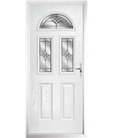 The Glasgow Composite Door in White with Zinc Art Elegance