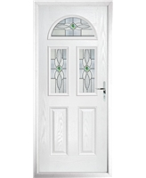 The Glasgow Composite Door in White with Green Daventry