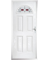 The Derby Composite Door in White with Red Barcelona