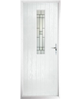 The Sheffield Composite Door in White with Tate