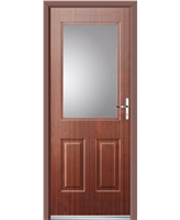 Ultimate Windsor Rockdoor in Mahogany with Clear Glazing