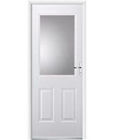 Ultimate Windsor Rockdoor in White with Clear Glazing