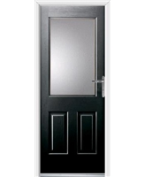 Windsor Rockdoor in Onyx Black with Clear Glazing