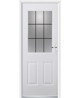 Ultimate Windsor Rockdoor in Blue White with Square Lead