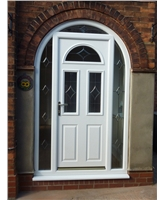 Composite Door in Arched Frame with Bespoke Glazed Surround