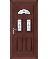 Brighton Crystal Tulip uPVC High Security Door In Rosewood