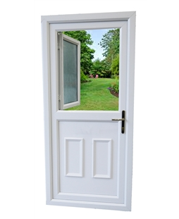 uPVC High Security Stable Door in White