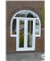 French Doors in Arched Key Hole Frame