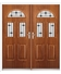 Tennessee French Rockdoor in Light Oak with Black Diamonds