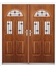 Tennessee French Rockdoor in Light Oak with Red Diamonds