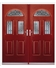 Tennessee French Rockdoor in Ruby Red with Crystal Bevel