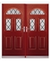 Tennessee French Rockdoor in Ruby Red with Diamond Lead