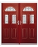 Tennessee French Rockdoor in Ruby Red with White Diamonds