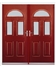 Tennessee French Rockdoor in Ruby Red with Glazing