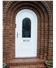 White uPVC Arched Door and Frame