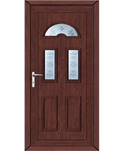 Brighton Blast uPVC High Security Door In Rosewood