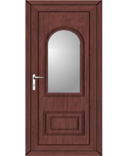 Epsom Glazed uPVC High Security Door In Rosewood
