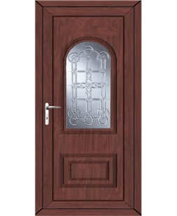 Epsom Coyle uPVC High Security Door In Rosewood