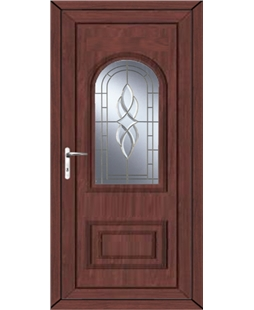 Epsom Cullingworth Bevel Border uPVC High Security Door In Rosewood
