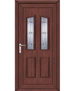 Doncaster Georgian Bevel uPVC High Security Door In Rosewood