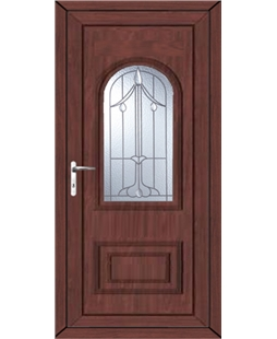 Epsom Harding Bevel uPVC High Security Door In Rosewood