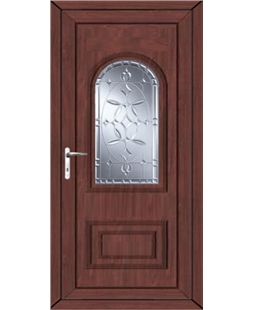 Epsom New Diamond uPVC High Security Door In Rosewood
