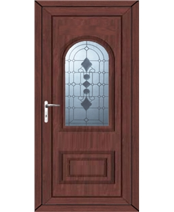Epsom Radiance uPVC High Security Door In Rosewood