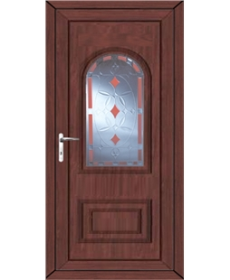 Epsom Red Diamond uPVC High Security Door In Rosewood