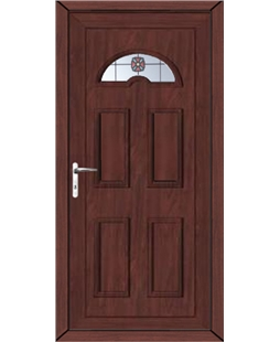 Brighton Rosette uPVC High Security Door In Rosewood