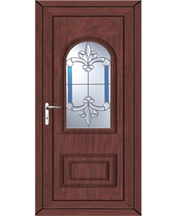 Epsom Royal Master uPVC High Security Door In Rosewood