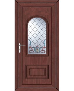 Epsom Scroll uPVC High Security Door In Rosewood