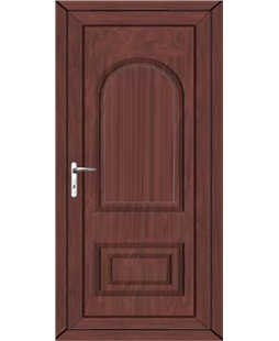 Epsom Solid uPVC High Security Door In Rosewood