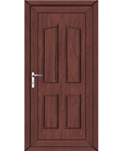 Doncaster Solid uPVC High Security Back Door In Rosewood