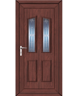 Doncaster Tanzanite uPVC High Security Door In Rosewood