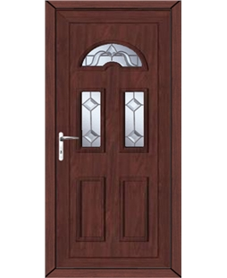 Brighton Victorian Bevel uPVC High Security Door In Rosewood