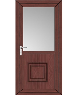 Kirkcaldy Half Raised Panel uPVC High Security Back Door In Rosewood
