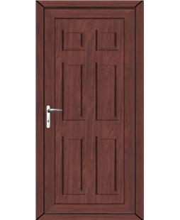 Aylesbury Solid uPVC High Security Door In Rosewood
