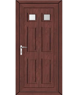 Aylesbury Glazed uPVC High Security Door In Rosewood