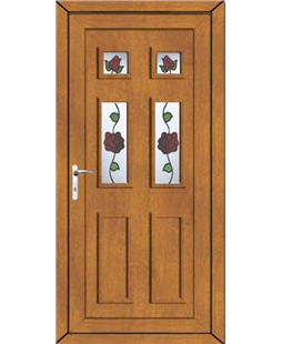 uPVC Door in Golden Oak