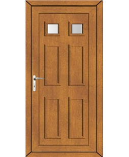 Upvc door in golden oak upvc front back doors value for Front and back doors