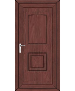 Fareham Solid uPVC High Security Door In Rosewood