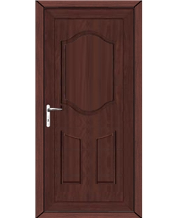 Guilford Solid uPVC High Security Door In Rosewood