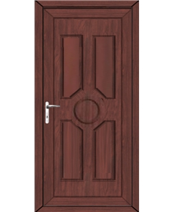 Queensborough Solid uPVC High Security Door In Rosewood