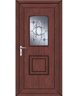 Fareham Blue Orbit uPVC High Security Door In Rosewood