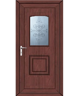 Fareham China Blast uPVC High Security Door In Rosewood