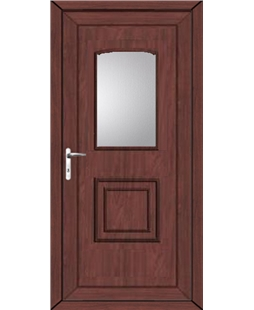 Fareham Glazed uPVC High Security Door In Rosewood