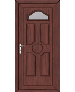 Ventor Glazed uPVC High Security Door In Rosewood